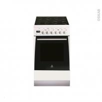 Cuisinière - Vitrocéramique / Catalyse - Blanc - INDESIT - EI5VMC5A(W)/FR
