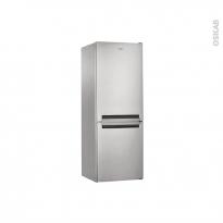 Réfrigérateur combiné 338L - Pose libre 188 cm - Inox - WHIRLPOOL - BLFV8121OX