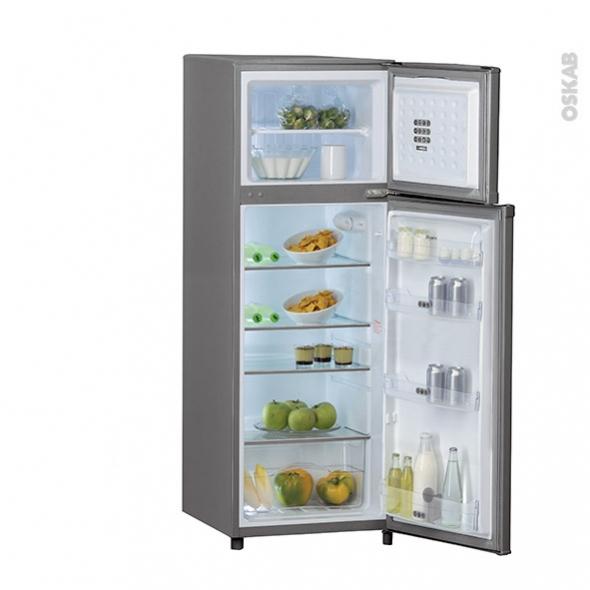 Réfrigérateur combiné 252L - Pose libre 166 cm - Inox - WHIRLPOOL - WTE2512A+X