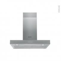 Hotte de cuisine aspirante - Box 60cm - Inox - INDESIT - IHBS 6.4 AM X