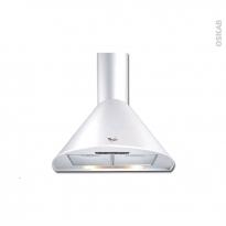Hotte de cuisine aspirante - Pyramide 60cm - Blanc - WHIRLPOOL - AKR689WH