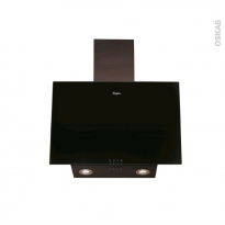 Hotte de cuisine aspirante - Inclinée 60 cm - Noire - WHIRLPOOL - AKR037GBL
