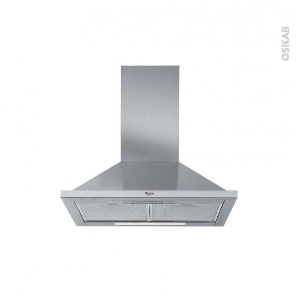 Hotte de cuisine aspirante - Pyramide 60 cm - Inox - WHIRLPOOL - AKR563IX