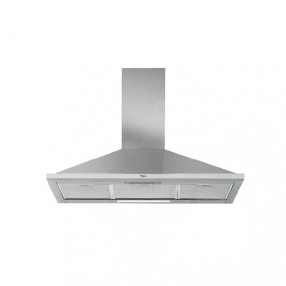 Hotte de cuisine aspirante - pyramide 90cm - Inox - WHIRLPOOL - AKR590IX