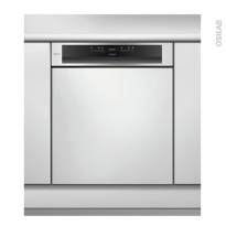 Lave vaisselle 14 couverts - Intégrable 60 cm - Inox - WHIRLPOOL - WCBO3T123PFI