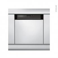 Lave vaisselle 14 couverts - Intégrable 60 cm - Noir - Whirlpool- WBC3C26B