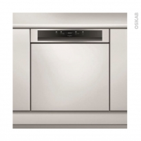 Lave vaisselle 14 couverts - Intégrable 60 cm - Inox- Whirlpool- WBC3C26X