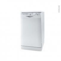 Lave vaisselle 10 couverts - Pose libre 45 cm - Blanc - INDESIT - DSR 26B17