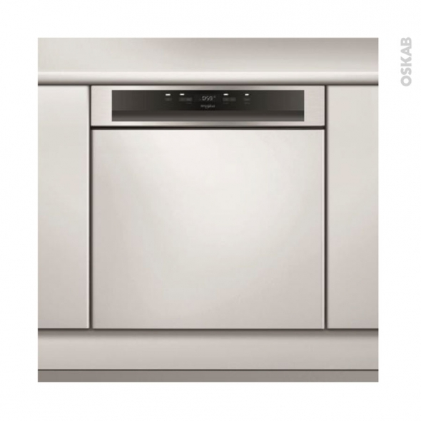Lave vaisselle 14 couverts - Full intégrable 60 cm - Inox- Whirlpool- WBC3C26X