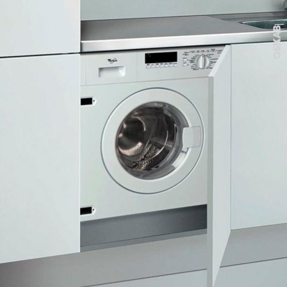 Lave linge Séchant 60CM - Intégrable 6kg - WHIRLPOOL - AWZ612