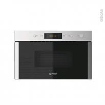 Micro-ondes grill - Intégrable 38cm 22L - Inox - INDESIT - MWI 5213 IX