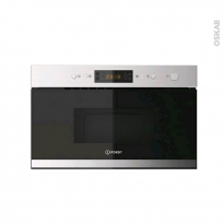 Micro-ondes grill - Intégrable 38cm 22L - Inox - INDESIT - MWI 3213 IX