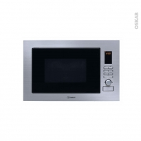 Micro-ondes grill - Intégrable 38cm 24L - Inox - INDESIT - MWI 222.2 X