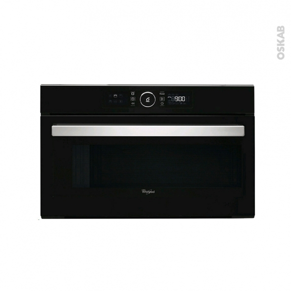 Micro-ondes grill - Intégrable 38cm 31L - Noir - WHIRLPOOL - AMW730NB