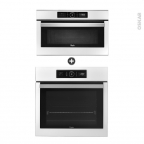 Pack éléctroménager design - Four Pyrolyse AKZ6290WH - Micro-Ondes AMW730WH - Blanc - WHIRLPOOL