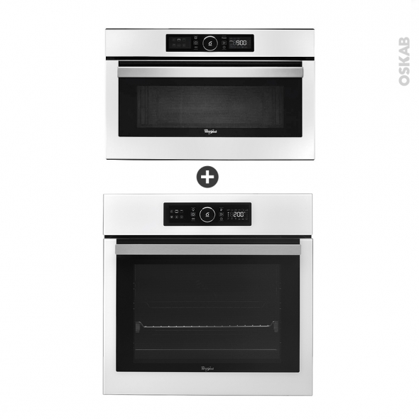 Pack éléctroménager design - Four Catalyse AKZ6240WH - Micro-Ondes AMW730WH - Blanc - WHIRLPOOL