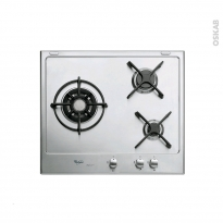 Plaque de cuisson 3 feux - Gaz 60 cm - Email Inox - WHIRLPOOL - AKT615/IXL-new