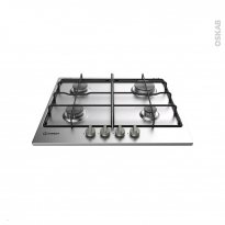 Plaque de cuisson 4 feux - Gaz 60 cm - Inox - INDESIT - THP 642 IX/I