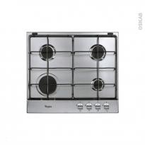 Plaque de cuisson 4 feux - Gaz 60 cm - Inox - WHIRLPOOL - AKR 331/IX-NEW