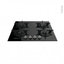Plaque de cuisson 4 feux - Gaz 60 cm - Verre noir - INDESIT - PR 642 /I (BK)