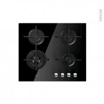 Plaque Gaz - 4 foyers L60cm - Verre Noir - WHIRLPOOL - AKT7000NB