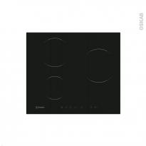 Plaque de cuisson 3 feux - Induction 60 cm - Verre Noir - INDESIT - VIA 630 XS C