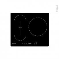 Plaque de cuisson 3 feux - Induction 60 cm - Verre Noir - INDESIT - VIS 631 BL F