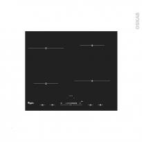 Plaque induction - 4 foyers L60cm - Verre Noir - WHIRLPOOL - ACM823NE