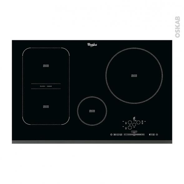 Plaque induction - 4 foyers L80cm - Verre Noir - WHIRLPOOL - ACM849BA