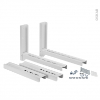 Support mural Micro Ondes - Fixation mini fours - Blanc - MBR100 - WPRO
