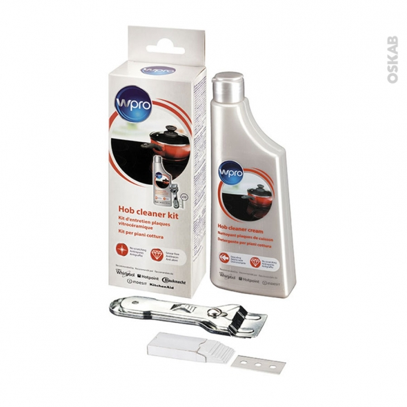 Kit nettoyage plaque de cuisson - Vitrocéramique - KVC015 - WPRO