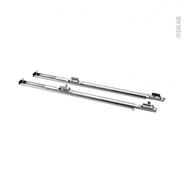 Rails télescopiques - Compatible Fours Whirlpool - 1 niveau autobloquant - SLP001 - WPRO