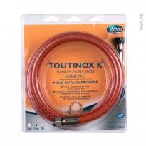Flexibles de gaz - Toutinox gaz Butane/Propane - Validité illimitée - Longueur 1.5 m - TBE150 - WPRO