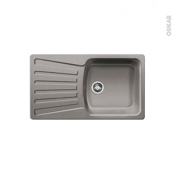 Evier de cuisine - NOVA 5S - Granit alumétallic - 1 bac égouttoir - à encastrer - BLANCO