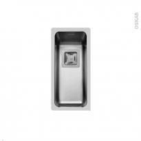 Evier de cuisine - LAGO - Inox lisse - 1 cuve carré 21 x 44 cm - sous plan