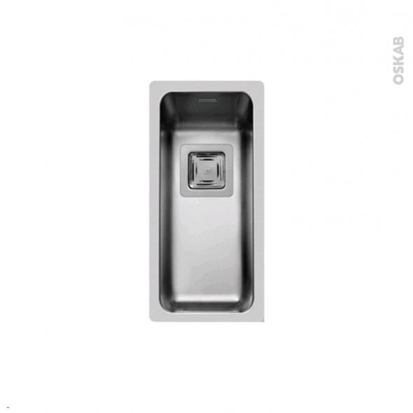 Evier LAGO - Inox lisse - 1 cuve carré 21x44 - à fleur de plan
