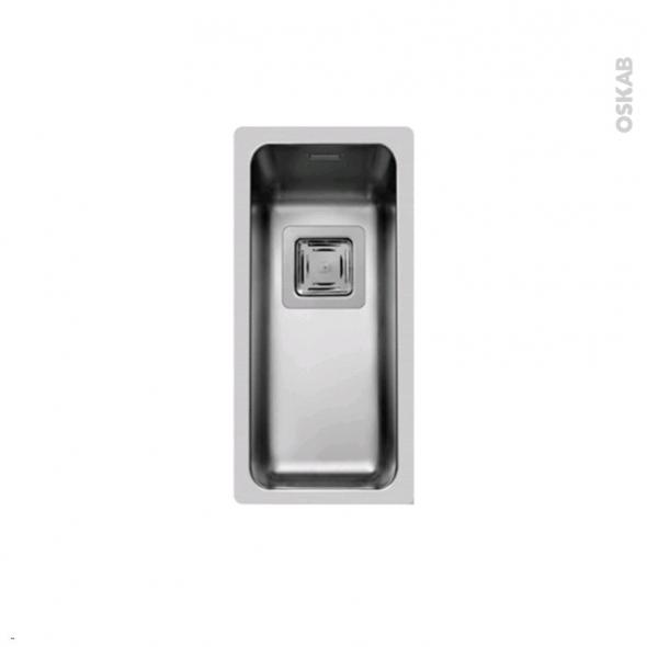 Evier LAGO - Inox lisse - 1 cuve carré 21x44 - sous plan