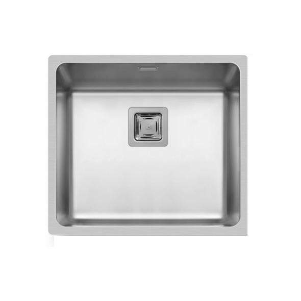 Evier LAGO - Inox lisse - 1 cuve carré 49x44 - à fleur de plan
