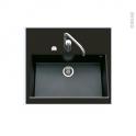 Evier GARDA - Granit noir - 1 cuve carré 76x44 - Sous plan