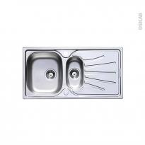 Evier de cuisine - APIRO - Inox lisse - 1 bac 1/2 égouttoir - à encastrer - ASTRACAST