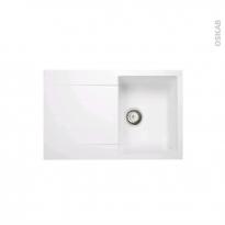 Evier HELIO - Granit blanc - 1 bac égouttoir - à encastrer - ASTRACAST