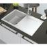 #Evier de cuisine - HELIO - Granit blanc - 1 bac égouttoir - à encastrer - ASTRACAST