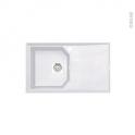 Evier HELIX - Granit blanc - 1 bac égouttoir - à encastrer - ASTRACAST