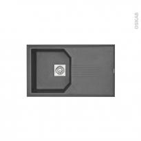 Evier de cuisine HELIX - Granit gris - 1 bac égouttoir - à encastrer - ASTRACAST