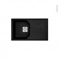 Evier de cuisine - HELIX - Granit noir - 1 bac égouttoir - à encastrer - ASTRACAST