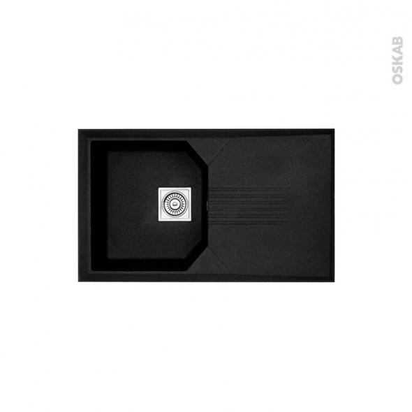 Evier HELIX - Granit noir - 1 bac égouttoir - à encastrer - ASTRACAST
