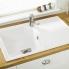 #Evier de cuisine HELIX - Granit blanc - 1 bac égouttoir - à encastrer - ASTRACAST