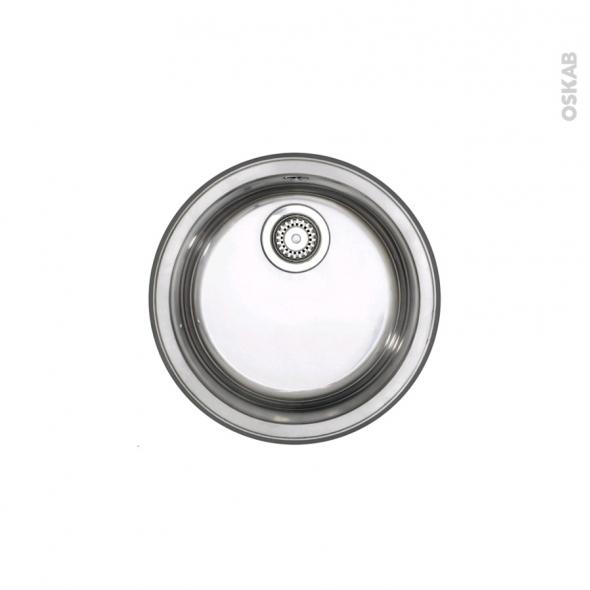 Evier de cuisine - OPAL - Inox lisse - 1 cuve ronde  Ø41,5 cm - à encastrer - ASTRACAST
