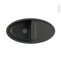 Evier OVAL - Granit noir - 1 bac égouttoir - à encastrer - ASTRACAST