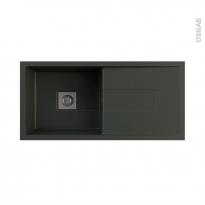 Evier de cuisine - SIGMA - Granit noir - 1 grand bac égouttoir - à encastrer - ASTRACAST